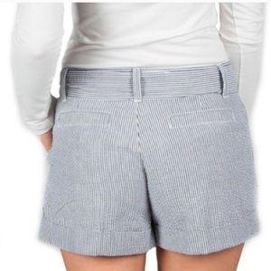Lauren James Shorts - Lauren James gray and white seersucker bow shorts